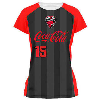 Ladies Striped Soccer Jersey and Uniform Thumbnail