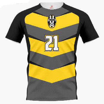 Chevron Shadow Custom Soccer Jersey & Uniform Thumbnail