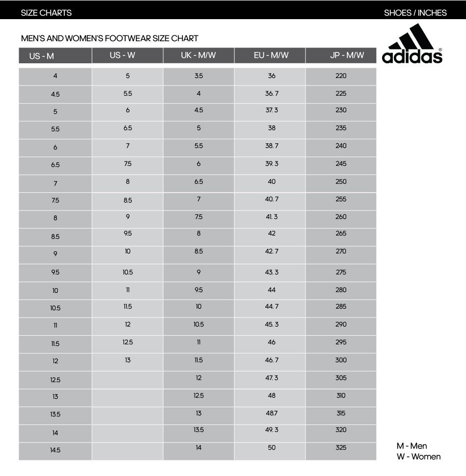 Adidas Shoe Size Chart